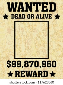 A old wanted posters / Vector wanted poster image