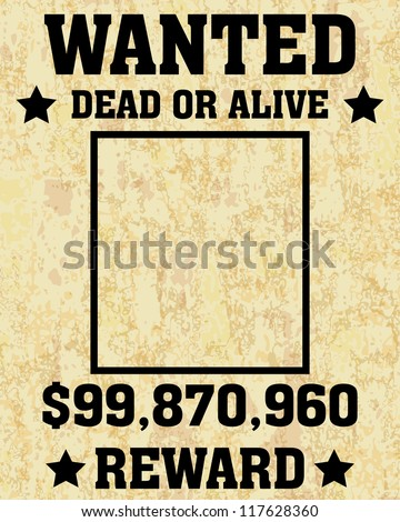 old wanted posters vector wanted poster stock vector royalty free