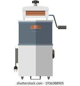 Old washing machine with wringer vector illustration