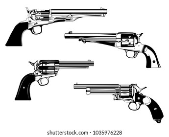 old western rarity remington colt peacemaker revolvers different models set