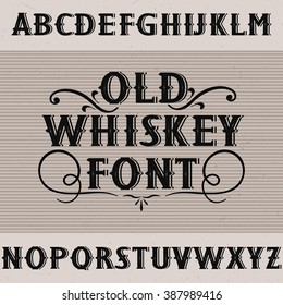 Whiskey Font Images, Stock Photos & Vectors | Shutterstock