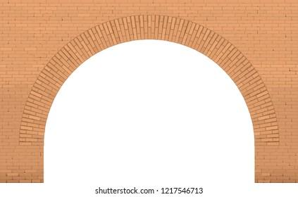 Old wide brick facade facade in Loft style. Bridge or interior. Background or texture. Window door or entrance