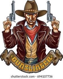 Outlaw Gunslinger Images, Stock Photos & Vectors | Shutterstock