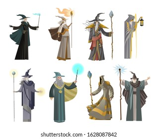 old wise magician fantasy wizard collection