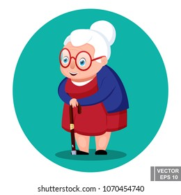 Old woman. Happiness. Elderly person. For your design.