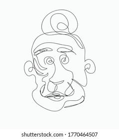 old woman line art vector design. eps10