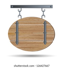 Old wooden board vector image.
