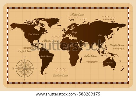 Old world map vector illustration stock vector royalty free old world map vector illustration gumiabroncs Choice Image