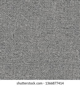 Old, worn fabric texture. Gray, rough, flecked cloth background. Vector illustration.