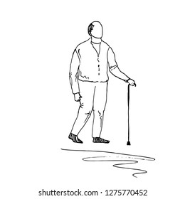Older person. Vector illustration.