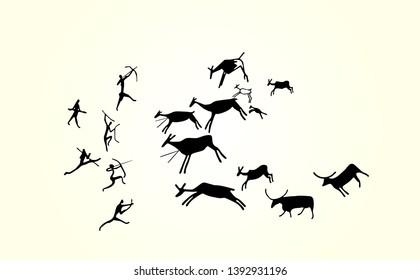 The oldest date given to an animal cave painting, earliest known European figurative cave paintings