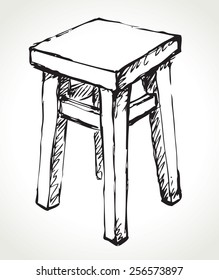 Sketch Chairs Stools Images, Stock Photos & Vectors