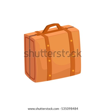 f9135cd37 Royalty-free stock vector images ID: 535098484. Old-School Man Leather  Handbag Case Item From Baggage Bag Cartoon Collection Of Accessories -  Vector