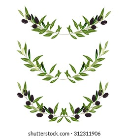 Olive frame. Vector illustration