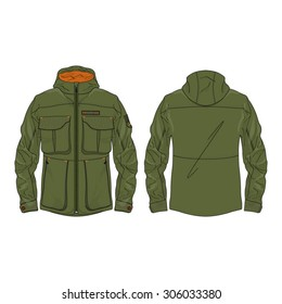 Olive Green Army Field Jacket