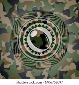 olive icon on camo pattern