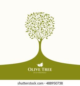 Olive label, olive logo design. Olive tree