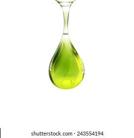 Olive oil drop. Vector eps 10