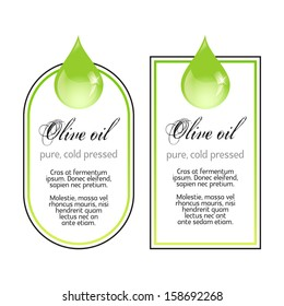 Olive Oil labels on white