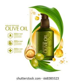 Olive oil organics natural skin care cosmetic