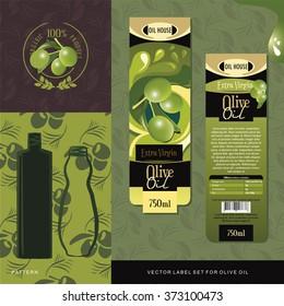 Olive Oil vector label set