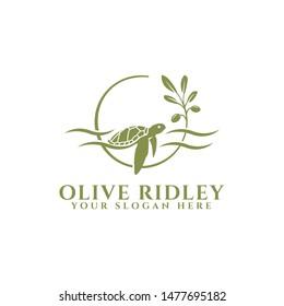 Olive Ridley Turtle sea logo