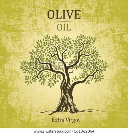 olive tree on vintage paper olive のベクター画像素材 ロイヤリティ