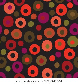Olives repeat pattern design in red, green, purple and orange with a retro touch.  Great for fabric, wallpaper, invitations, scrapbooking, wrapping paper.