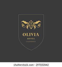 Olivia Luxury Hotel Logo template