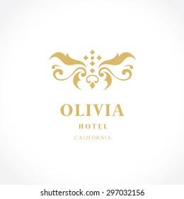 Olivia Vintage Luxury Hotel Logo Template