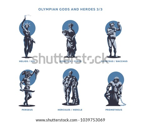 Olympian gods and heroes