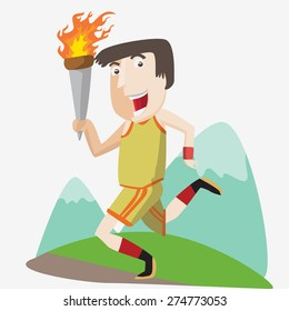 Olympic flame runner
