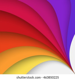 Olympic games 2016 abstract colorful background. Vector illustration with twisted form includes brown, purple, yellow, orange, red and violet colors.