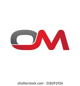 OM company group linked letter logo