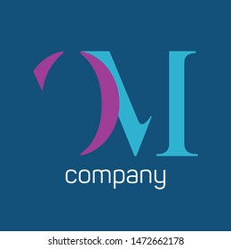 OM company logo. Monogram letters O and M.
