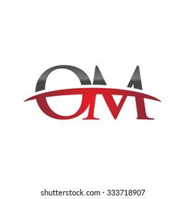 OM initial company red swoosh logo