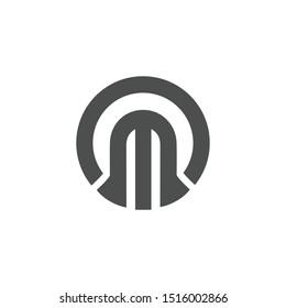 OM Initial letter Logo. Vector Graphic Branding Letter Element