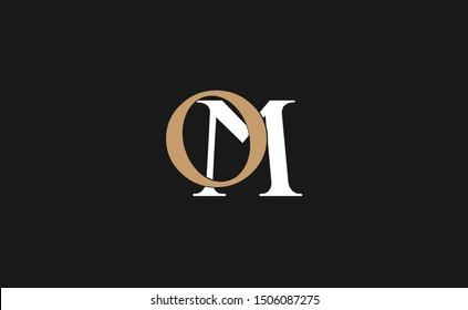 OM letter Logo Design Template Vector