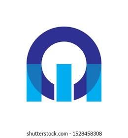OM letter logo design vector, Online Media logo