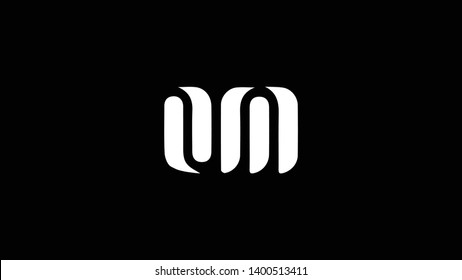 OM logo design template vector illustration minimal design