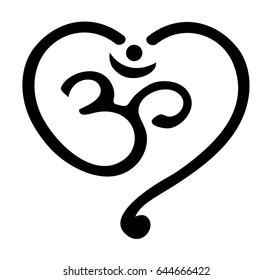 OM Mantra Heart, Yoga, Buddhism