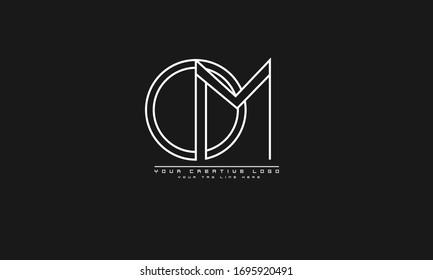 OM MO abstract vector logo monogram template