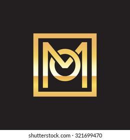 OM MO initial company, golden square frame