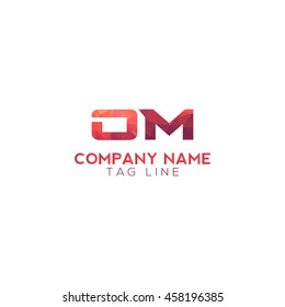 om polygonal logo