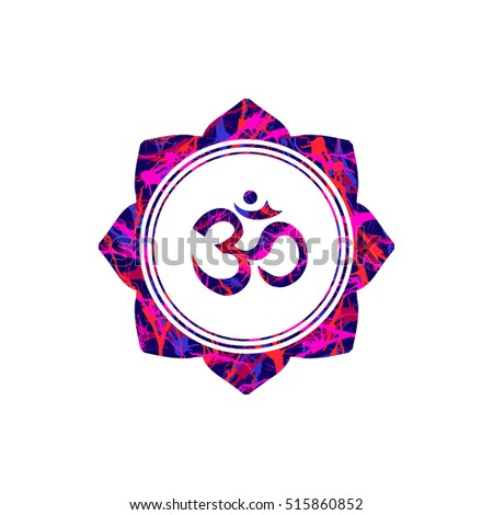 Om Sign Lotus Flower Vector Buddhist Stock Vector Royalty Free