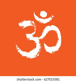 om sign and symbol, Om Aum Ohm india symbol meditation, yoga mantra hinduism buddhism zen, vector.