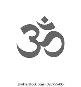om sign and symbol, vector illustartion