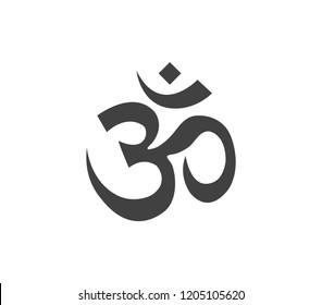 Om symbol. Buddhism symbol.  Om vector symbol.