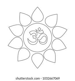 om symbol outline icon
