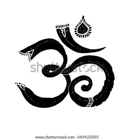 Om Symbol Sacred Symbol Buddhism Hinduism Stock Vector Royalty Free